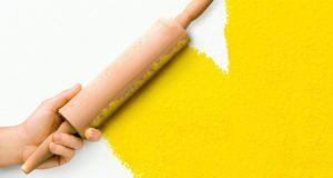Стильная покраска стен с использованием подручных средств